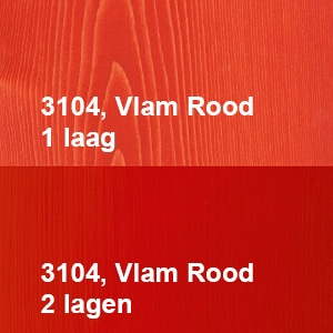 Osmo Decorwas Creativ 3104 Vlam Rood Kleurvoorbeeld