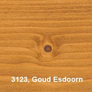 Osmo Decorwas Transparant 3123 Goud Esdoorn Kleurvoorbeelden