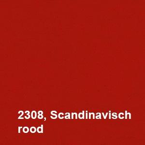 Osmo Landhuisverf 2308 Scandinavisch rood Kleurvoorbeeld