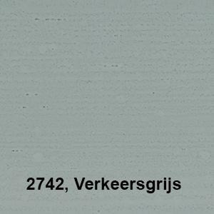 Osmo Landhuisverf 2742 Verkeersgrijs Kleurvoorbeeld