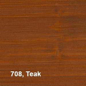 Osmo Natuurlijke Olie-Beits 708 Teak Kleurvoorbeeld