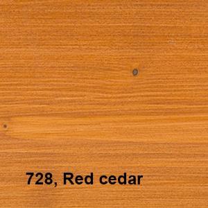 Osmo Natuurlijke Olie-Beits 728 Pallisander Kleurvoorbeeld