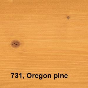 Osmo Natuurlijke Olie-Beits 731 Oregon pine Kleurvoorbeeld