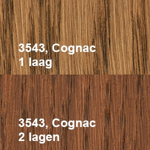 Osmo Olie-Beits 3543 Cognac Kleurvoorbeeld